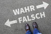 Wahr falsch Wahrheit Lüge lügen Fake News Fakten Zweifel Vergleich
