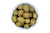 Oliven grün Olive von oben isoliert freigestellt Freisteller