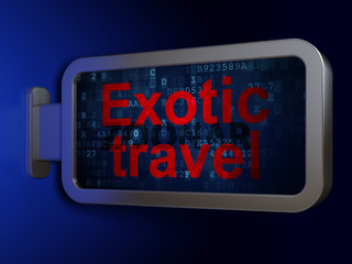 Travel concept: Exotic Travel on billboard background