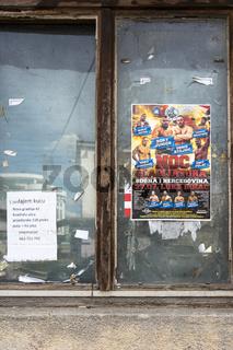 Plakat einer Catching Veranstaltung in Sanski Most, Bisnien