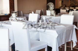 white interior of sicilian restaurant