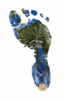 Foot print of Europe