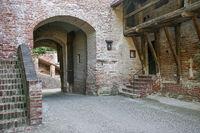 Mittelalterliches Burgendetail