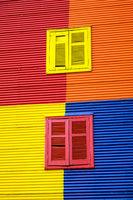 Eine der bunten Hausfassaden in La Boca