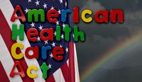 American Health Care Act illustration with US flag