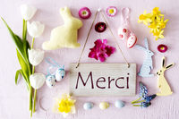 Easter Flat Lay, Merci Means Thank You