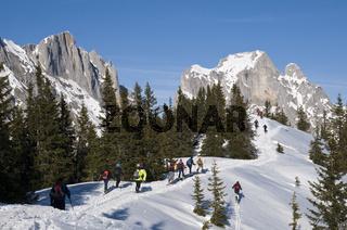 Skitour am Lahngang Nationalpark Gesäuse, Steiermark, Österreich