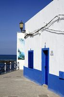 Street view in El Cotillo village on Fuerteventura, Spain
