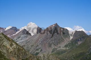 Ausblick vom Timmelsjoch, Hochalpenstrasse, Stubaier Alpen , oetztaler Alpen, Suedtirol, Italien, Europa, View from Timmeljoch, High alpine road, South Tyrol, Italy, Europe