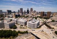 Downtown City Skyline Atlanta Georgia Metro Area Capital Town
