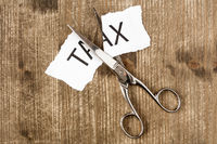 Cutting taxes concept
