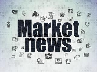 News concept: Market News on Digital Data Paper background