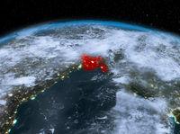 Bangladesh from space at night