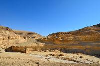 Fragment of ancient desert and mountains. Desert Negev