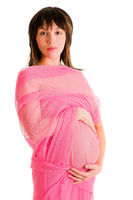 Pregnant Woman in Chiffon Shawl