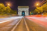 Arc de triomphe in Paris France