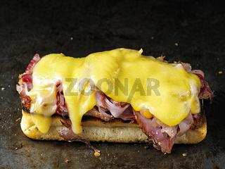 rustic french sandwich croque monsieur