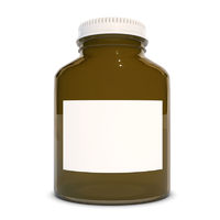 Empty Medical Brown Glass bottle