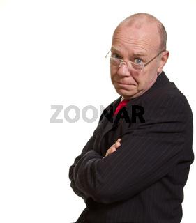 Expressive senior businessman