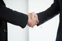 Business handshake close up