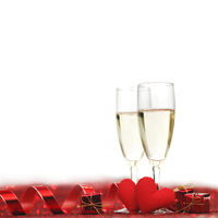 Champagne and hearts
