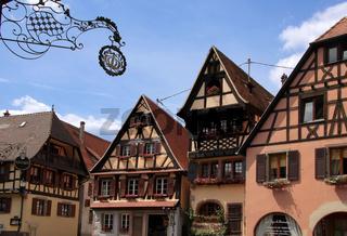 Fachwerkhäuser im Dorfkern
