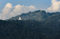 The World Peace Pagoda in Pokhara