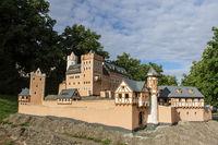Model der Burg Anhalt in Ballenstedt Harz