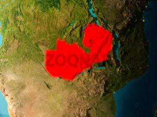 Orbit view of Zambia