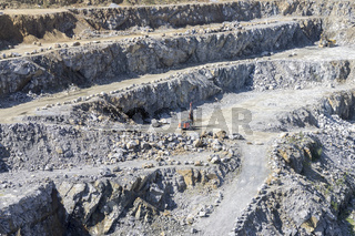 View of the great deep quarry for the extraction of minerals