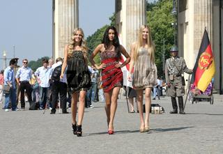 Germany's Next Topmodel Top 3 Photocall in Berlin