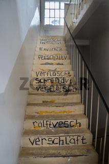 Treppenhaus in einer alten Seifenfabrik