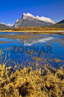 Mount Rundle Reflection in Vermilion Lake, Banff, Canadian Rocki
