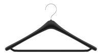 black clothing hanger isolated on white background. 3d illustration