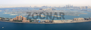 Dubai The Palm Palme Insel Atlantis Hotel Panorama Marina Luftaufnahme Luftbild