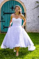 Woman in wedding dress