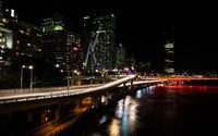 Nighttime cityscape of Brisbane