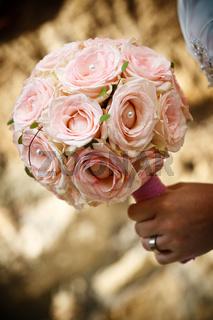 Brautstrauß rosa Rosen