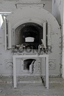 Verbrennungsoefen im Krematorium des  Frauenkonzentrationslager Ravensbrueck, Brandenburg
