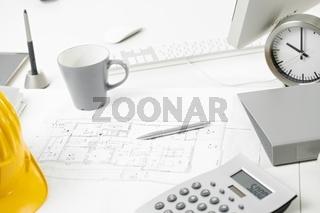 Architects office desk