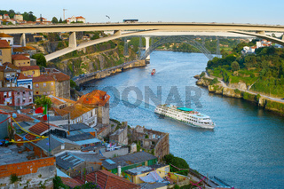 Cruise ship. Douro river. Porto