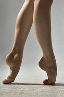 Closeup photo of ballerina's legs