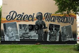 Warschau, Graffiti Dzieci Warszawy (Warschauer Kinder)