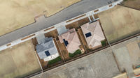 Drone Aerial View of Home Construction Site Final Stage