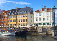 The Nyhavn canal (New Harbour) in Copenhagen.