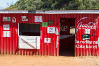 Red shop in africa countryside