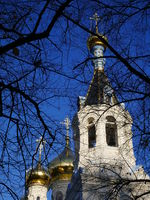 Russisch-orthodoxe Kirche St. Peter und Paul im tschechischen Kurort Karlsbad ( Karlovy Vary )