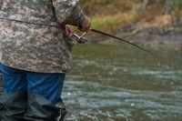 Fisherman at the Altai river