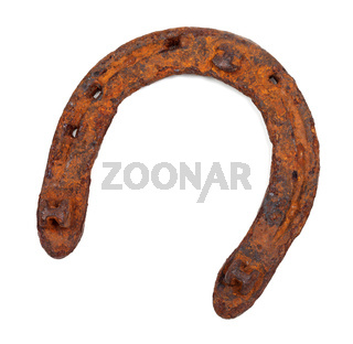Old rusty horseshoe