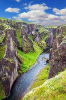 The vertical cliffs